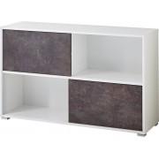Germania Open Boekenkast Altino - Wit met grijs basalt