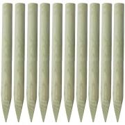 vidaXL Stâlp de gard 10 buc. 100 cm lemn ascuțit FSC
