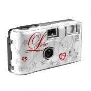 Love Aparat Foto pe Film de Unica Folosinta 35 mm Color ISO 400 27 Expuneri Alb