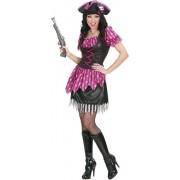 Piraat & Viking Kostuum | Sexy Pirate Pink Lady Of The Sea Kostuum Vrouw | Medium | Carnaval kostuum | Verkleedkleding