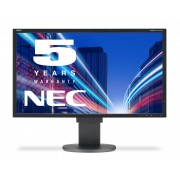 NEC MultiSync EA224WMi black 21.5' LCD monitor with LED backlight, IPS panel, resolution 1920x1080, VGA, DVI, DisplayPort, HDMI, speakers, 130 mm height adjustable