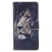 Кожен калъф с лъв за Huawei P9 Lite