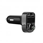 POWSTRO K Carkit Bluetooth Mp3-speler handsfree Call Draadloze Fm-zender Modulator met 5 V 4.1A Dual USB TF Slot Voltage