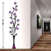 5026 Flower Vase Purple Flowers Wall Stickers