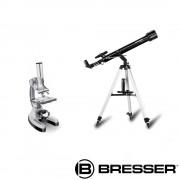 SET TELESCOP ARCTURUS 60/700 SI MICROSCOP BIOTAR DLX 300X-1200X BRESSER
