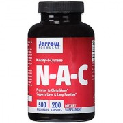 Jarrow Formulas N-A-C (N-Acetyl-L-Cysteine) Supports Liver & Lung Function 500 mg 200 Caps