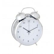 Nextime wekker Wake up large - Zilver - Wit