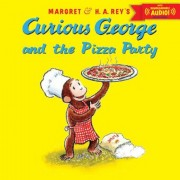 Curious George and the Pizza Party with Downloadable Audio, Paperback