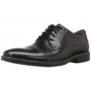 Clarks Men's Garren Cap Oxford, Black, 11.5 M US