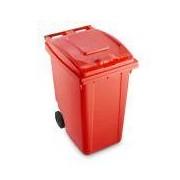 Socepi Bidoni raccolta differenziata rifiuti 360 litri rosso