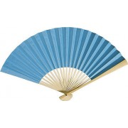 Turquoise Paper Hand Fan