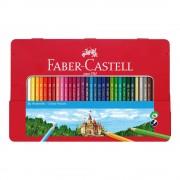 Creioane colorate 36 culori/set FABER-CASTELL, cutie metal, FC115886