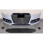 Paraurti anteriore TUNING look RS6 per AUDI A6 2011 2012 2013 2014 2015 calandra nera griglie spoiler per lavafari per sensori