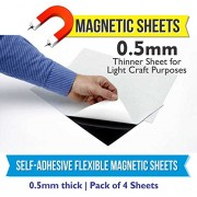 MFM Toys Self Adhesive Flexible Magnetic Sheet 300x300mm 0.5mm Thick (Pack of 4) Craft Magnets