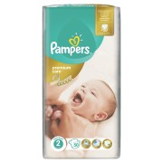 Пелени Pampers Premium Care No2 Mini 3-6 kg 50бр. Jumbo (Копие)
