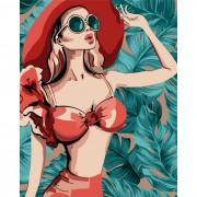 Русская живопись Набор для творчества Рисование по номерам Пляжный сезон 40х50