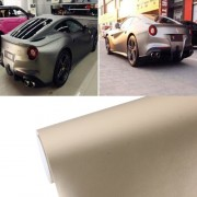 8m * 0.5m Ice Blue Metallic Matte Icy Ice Car Decal Wrap Auto Wrapping Vehicle Sticker Motorcycle Sheet Tint Vinyl Air Bubble Sticker (Rose Gold)
