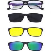 Derry Mult Lens Sunglasses ( Polarized Night Driving And Blue Mirrored) In an Eyewear Frame