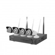 Surveillance Kit, Lanberg, NVR WIFI 4 channels + 4 cameras 2MP with accessories (ICS-0404-0020)