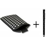 Polka Dot Hoesje voor Huawei Ascend G6 met gratis Polka Dot Stylus, Zwart, merk i12Cover