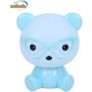Zahab Cute Blue Teddy Bear Cartoon Led Desk Lamp/Table Lamp/Night Light for Kids