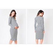 WANT THAT TREND £16.99 (from Want That Trend) for a maternity ribbed midi dress - choose your UK size