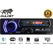 Dulcet DC-A-114 Fixed Panel Single Din MP3 Car Stereo with Bluetooth/USB/FM/AUX/MMC/Remote Control