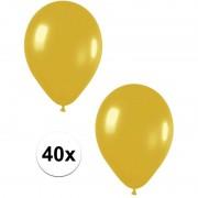 Geen 40x Gouden metallic ballonnen 30 cm