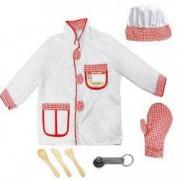 Costum copii bucatar sef plus accesorii bucatarie