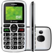 Mirage Celular-mirage-61f-dual-chip-tela-1.8-camera-mp3-radio-fm-bluetooth-e-usb-branco-1101 1101