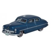 Oxford Diecast 87ME49007 Mercury 8 Coupe 1949 Teal Blue 1:87 Scale HO Diecast in Display Case