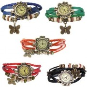 Original Stylish Women Leather Vintage BRACELET WATCH Latest Fashion WOMEN WATCHES - 5Colors