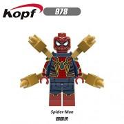 Generic 20Pcs Super Heroes Building Blocks Bricks Ulysses Klaw Iron Man Black Panther Spider-Man Aquaman Action Figures Toys XH 978 978 20Pcs