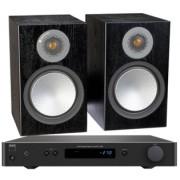 Pachete PROMO STEREO - Monitor Audio - Silver 100 + NAD C 338 Walnut