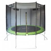 Capetan® Safe Fly extra stabil egyedi lábszerkezetű premium biztonsági trambulin védőhálóval 427 cm