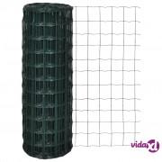 vidaXL Euro ograda 25 x 1,2 m s 76 x 63 mm očicama