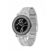 howdy Crystal Studded Analog Black Dial Stainless Steel Chian Watch- for - Women's Girl's ss359