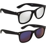 NuVew Wayfarer Sunglasses(Blue, Silver, Violet)