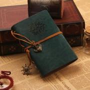 360DSC Pirata Ancla Diseño Imitación De Cuero Cuaderno Retro Bloc De Notas Libro Diario - Verde Oscuro (helado)