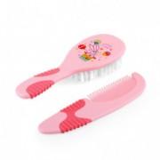 ELFI Set - četka i češalj sa gumenom drškom