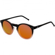 David Blake Red Round Polarised UV Protected Sunglass