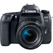 Aparat Foto DSLR Canon EOS 77D + Obiectiv EF-S 18-55mm, 24.2 MP, Full HD, Wi-Fi (Negru)