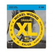 D'ADDARIO Muta Di Corde D'Addario Exl125 Nickel Wound, Super Light Top/ Regular Bottom, Chitarra Elettrica 9-46