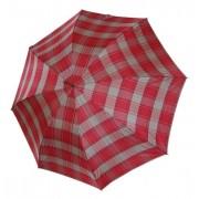 Czerwona krata - parasol długi damski Zest 51652
