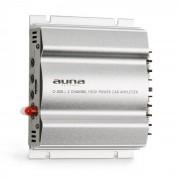 Auna C300.2, amplificator cu 2 canale, amplificator de mașină, 800W PMPO, 200W RMS, argintiu (W2-C300.2)