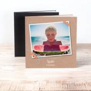smartphoto Fotobuch XL Quadrat - Hardcover Lederlook