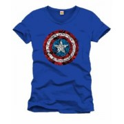 Tricou - Captain America - Logo Collage