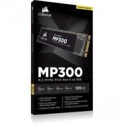 Твърд диск SSD Corsair Force MP300 Series NVMe (PCIe Slot) M.2 2280 SSD 120GB 3D TLC NAND; Up to 1,520MB/s Sequential Read, CSSD-F120GBMP300