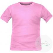 SiMEDIO T-shirt enfant manches courtes 8 couleurs au choix (noir aussi) - Rose 2 ans