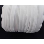 Fehér spirál méter cipzár - húzózár RT0 - 5 mm-es